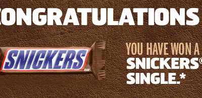Free Snickers Candy Bar