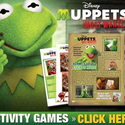 Muppets coloring and activity pages