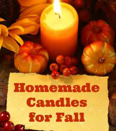 Homemade Fall Candles