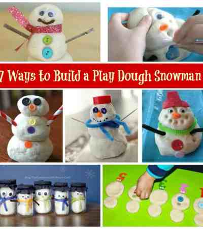 7 Ways to Build a Play Doh Snow Man