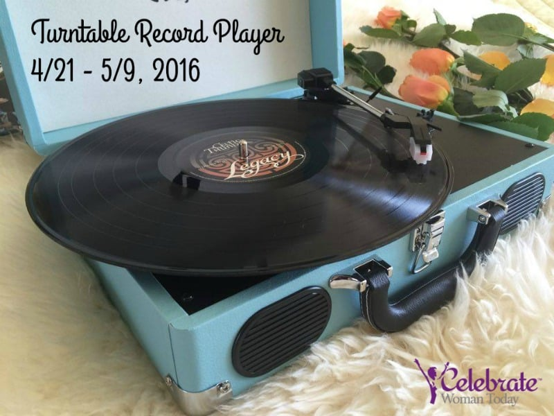 Love Your Vinyl Music Collection?  Enter to Win a Turntable Record Player - #Giveaway - #HeartThis