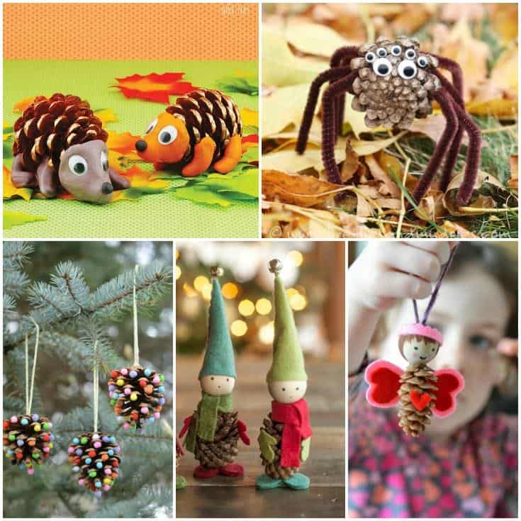 Cute Pine Cone Crafts for Kids