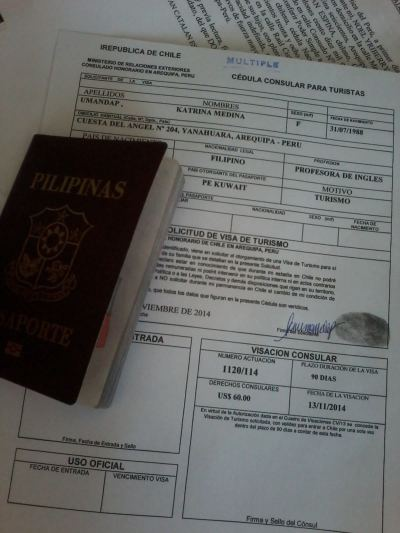 How to get Chile Tourist Visa in Arequipa, Peru