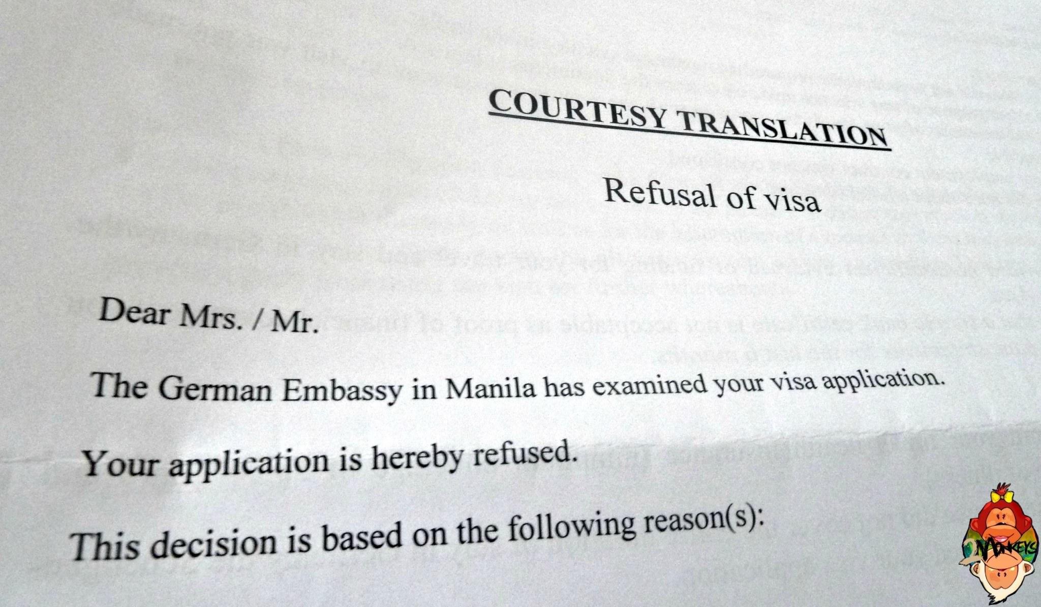 Rejected German Visa My Remonstrance For A Schengen Visa