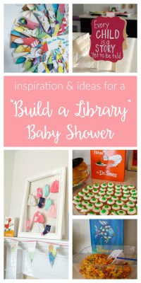 """""""Build a Library"""" Baby Shower - two purple couches"""