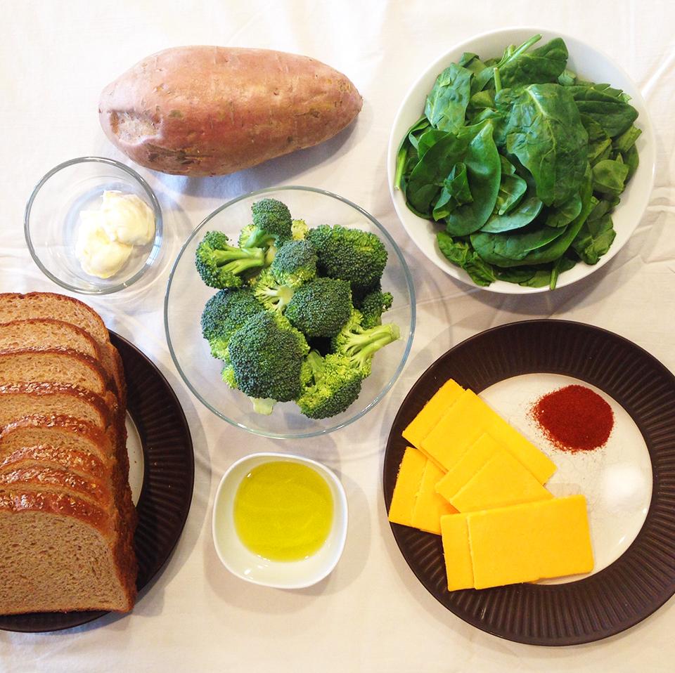 sweet pot broc spinach grilled chz 1