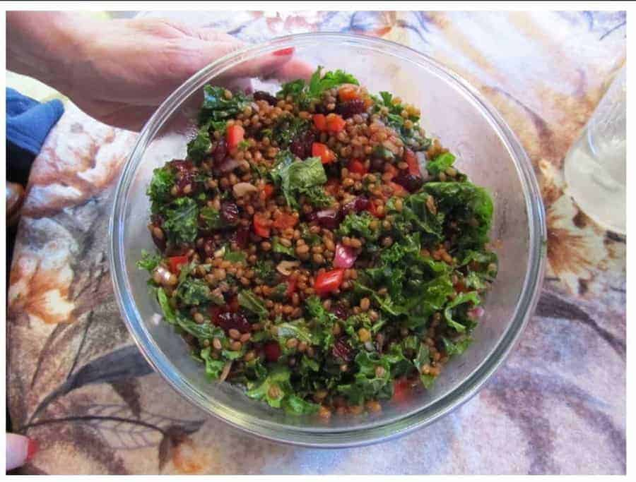 Ruth's Wheat berry, Kale, & Cranberry Salad