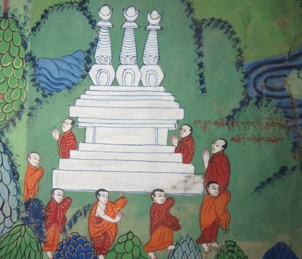 lower left - rang byung mchod rten