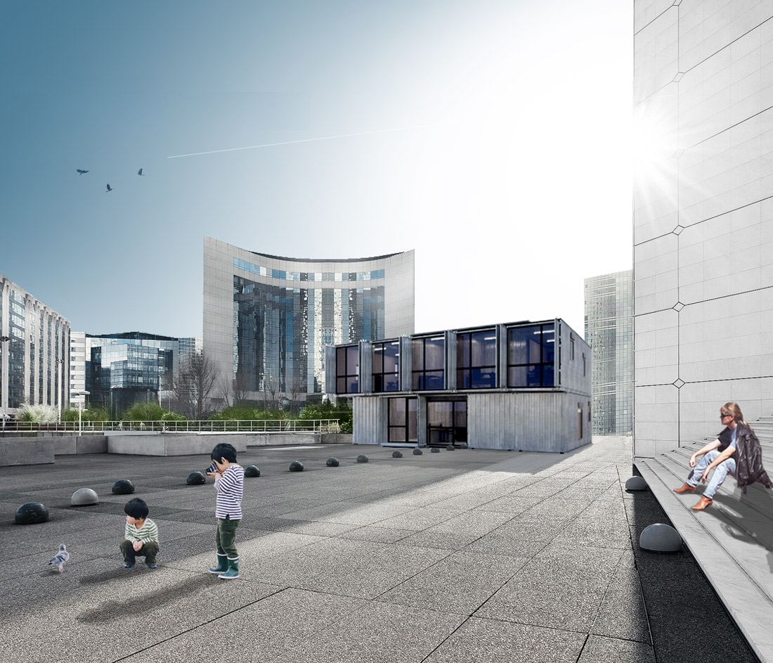 Container Haus Frankfurt Container Offices Concept Dresden Boxdorf 2013 2x20ft
