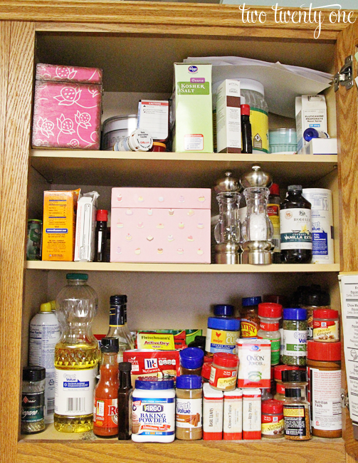 find spices stacked top organize kitchen cabinets long hairstyles