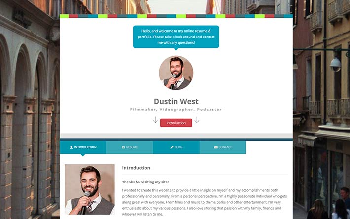 Create A Resume Website, Build A Personal Website  Portfolio - resume website example
