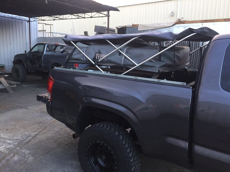 Roof Top Tent Inside A Soft Topper Tacoma World