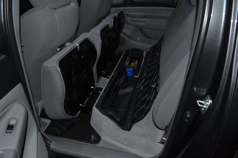 Cheap Mod Double Cab Under Seat Long Gun Storage Tacoma