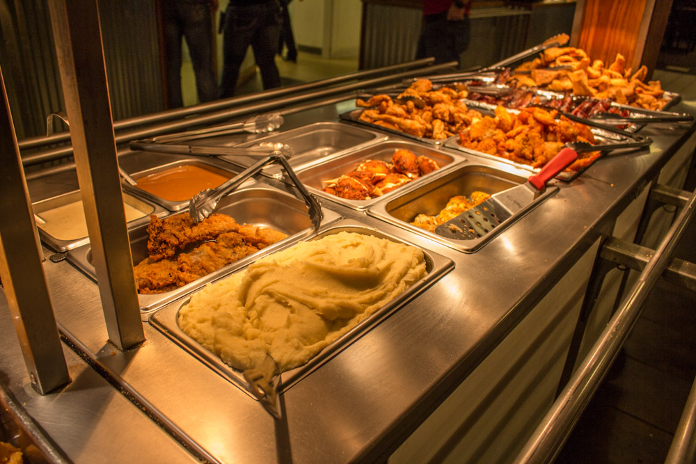 New management is raising the bar at fish creek buffet for Amnagement bar cuisine
