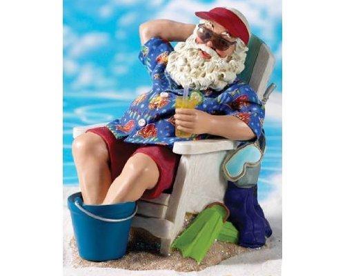 10 Fabrich Beach Party Sand Bar Santa Claus Christmas
