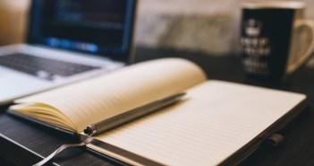 copywriting zeszyt laptop  kubek