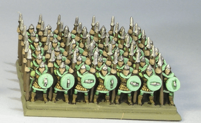 Games Workshop's Battle of Five Armies Miniatures: Elves with Spears. Painted by Tyler Provick.