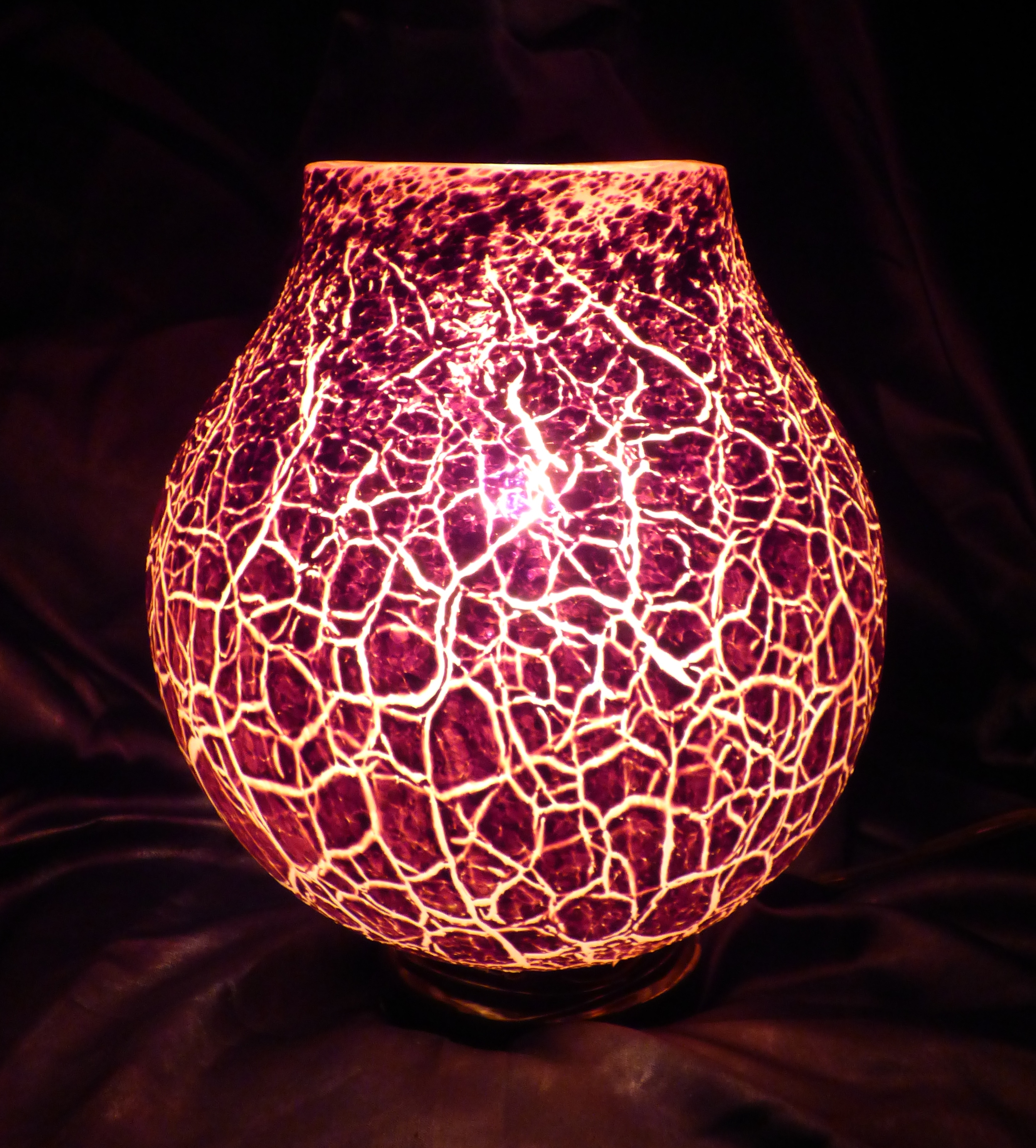 Glass Crackle Lamp Tony Patti Crackle Glass Volcano Lamp Tyler Park Center For The