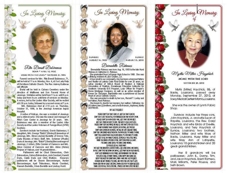Obituary Cards Templates – Obituary Cards Templates