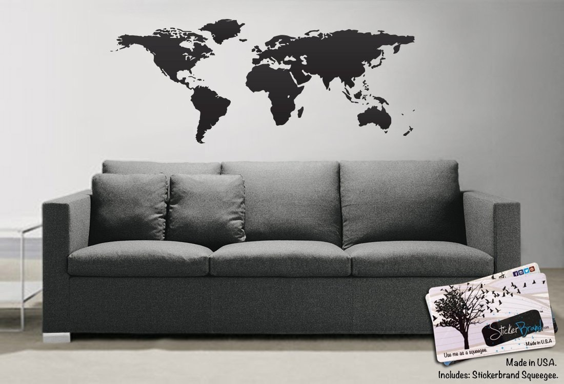 World Map Decorations 10 Best Adhesive Temporary Wallpapers Decals To Decorate Your Walls