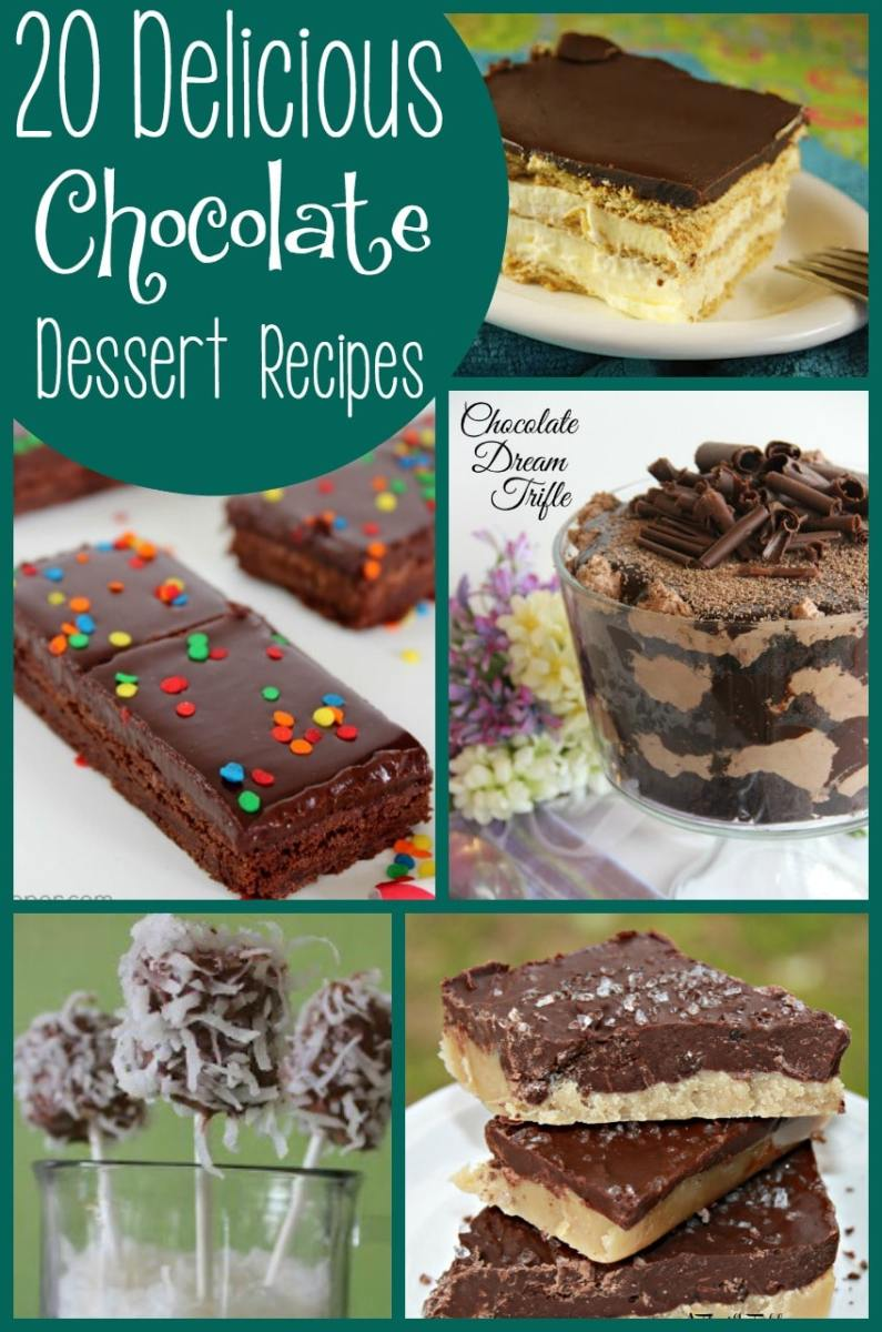 20 Chocolate Dessert Recipes {roundup}