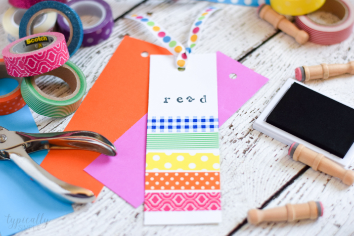 Washi Tape Bookmarks Crafts for Kids - Typically Simple