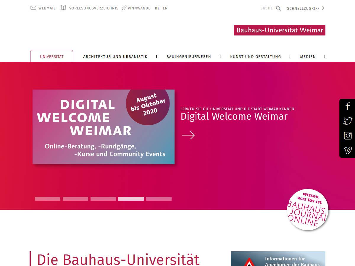 Uni Ranking Architektur Typo3 Websites Educational Institutions With Typo3 Web Sites