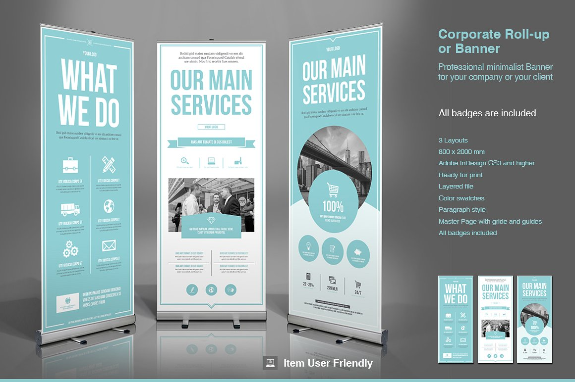 Rollup Business Roll Up Banner