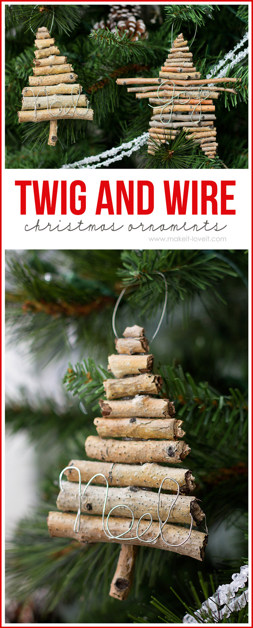 Bank Aus Holz Twig And Wire Christmas Ornaments - U Create