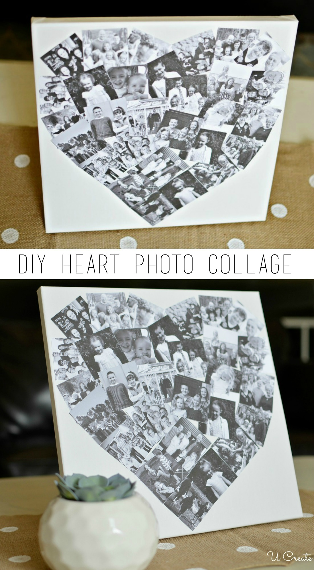 Diy Baby Diy Heart Photo Collage - U Create