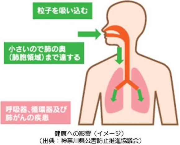 PM2.5健康被害画像