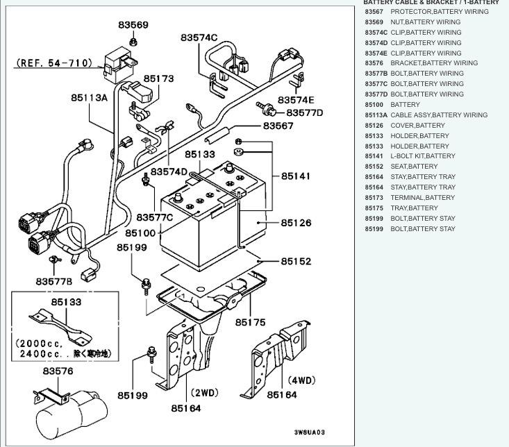 mitsubishi delica l300 wiring diagram