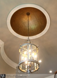 Luxury Home Foyer Dome with Iron Accents