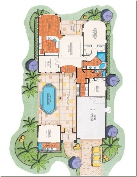 courtyard home courtyard floor plan plans courtyard spanish house plans courtyard