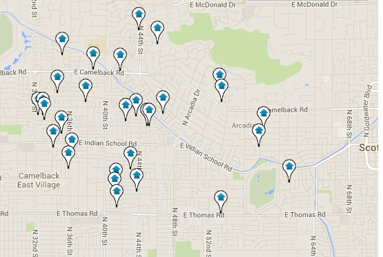 Arcadia Real Estate for Sale Map Search