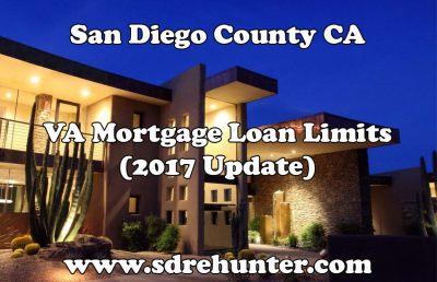 San Diego VA Mortgage Loan Limits (2017 Update)