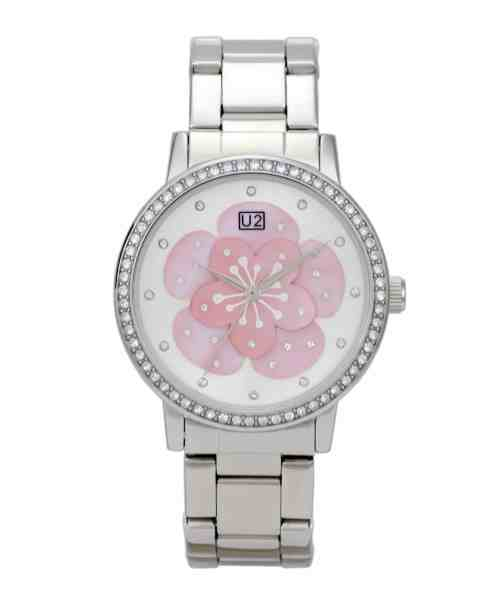 Pink Blossom (Bracelet Double Silver/Light Pink) U2 Timwear watch