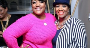 Anita Wilson with R&B songstress Avery Sunshine at the VINTAGE WORSHIP Listening Session
