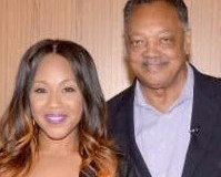 Navarrow Wright, Erica Campbell, Reverend Jesse L. Jackson, Sr., and Malik Ducard attend the Push 2020 Los Angeles Forum
