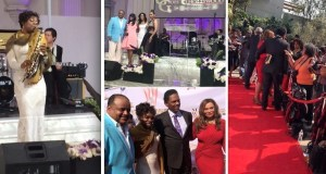 Gospel Saxophonist Angella Christie, Co-Host TV One's Roland Martin, Actor Richard Lawson, Tina Knowles-Lawson, Essence's Mikki Taylor, Emmy Award Winning Shaun Robinson and Co-Host Actress Vivica A. Fox! (PRNewsFoto/The HELPPPP Agency)