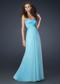 Blue Strapless Prom Dresses 2013 Long Sale -... | StyleCaster
