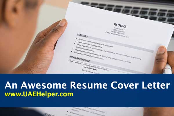 14 Essential Parts of an Awesome Resume Cover Letter - UAEHelper
