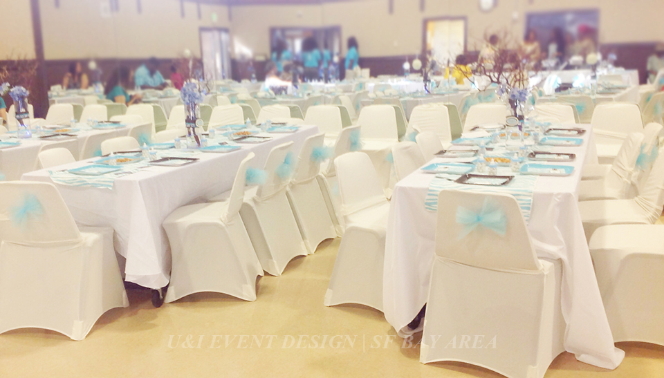 blue brown baby shower decor SF Bay Area Wedding / Event Planners