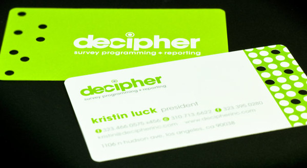 Die-cut business cards - UMe Graphics Branding + Graphic Design