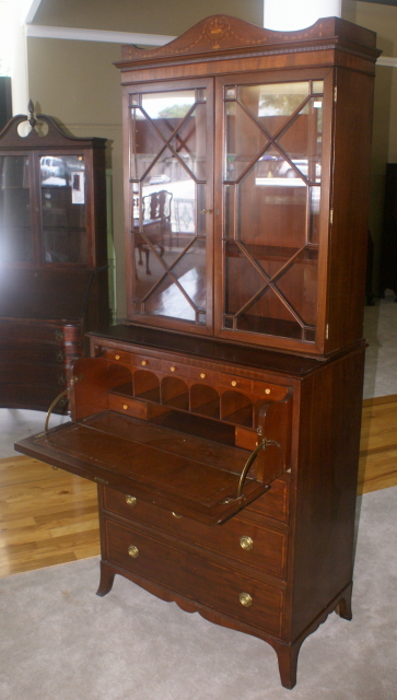 Desk With Drawers Antique Hepplewhite Mahogany Butlers Secretary Desk