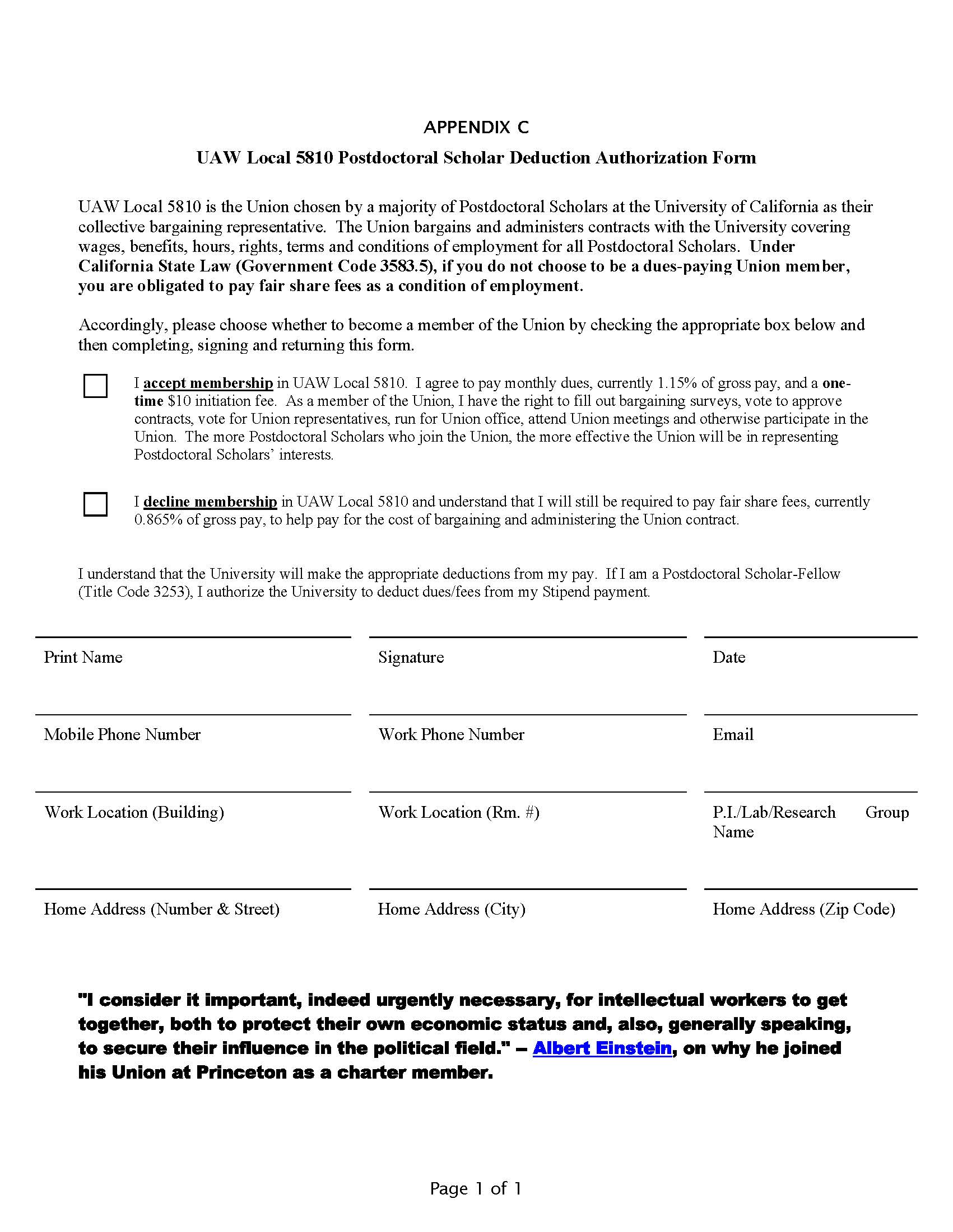 Eviction Letter Template Free Word Templates Contract Uaw Local 5810 The Union For Over 6000