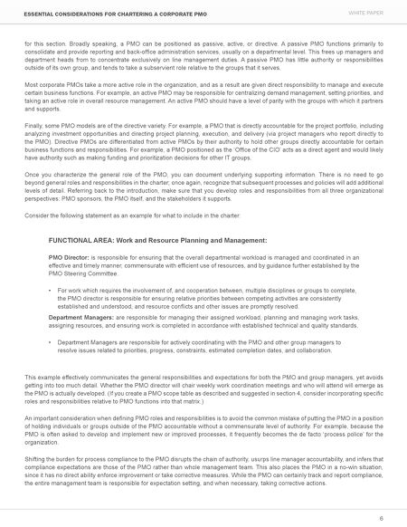 pmo responsibilities resume cv cover letter