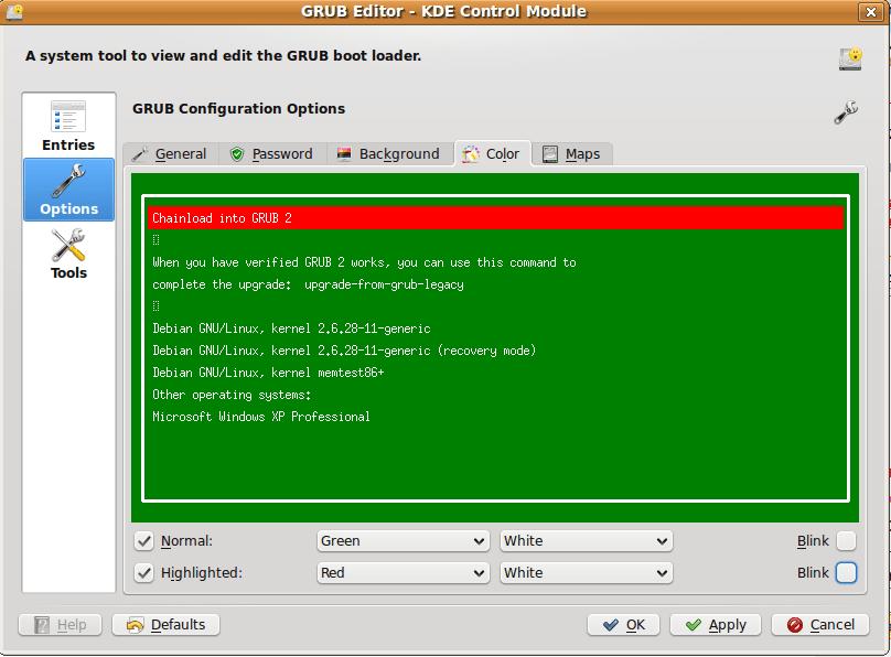 Edit Ubuntu Grub Boot Manager Settings With Kgrubeditor