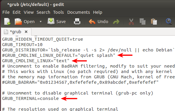 Ubuntu 1404 1310 Boot Into Text Mode Console