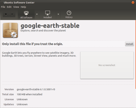 install google earth on Ubuntu11.10